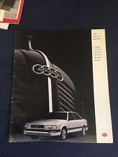 1981 Audi V8 USA Market 36 Page Color Brochure Catalog Prospekt