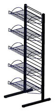 Retail Store Freestanding Mini Merchandiser Display Wire Shelves Black Epoxy NEW