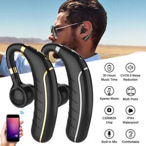 Sports Wireless Bluetooth Earphones Headphones Ear Hook Run Earbuds All Devices