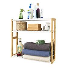 SoBuy® Wall  Wounted Shelf with Hook, Bathroom Kitchen Storage Rack,FRG28-WN,UK