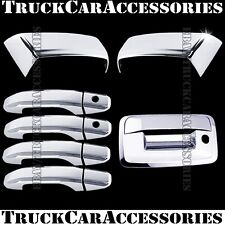 For CHEVY Silverado 14 15 16 17 18 Chrome Covers Half Mirror+4 Doors KH+Tailgate