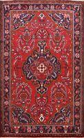 Excellent Vintage Lilihan Floral Area Rug Hand-knotted Oriental RED Carpet 7x10