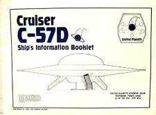 Forbidden Planet Cruiser C-57D Blueprint Set-5 Sheets-Interior/Exterior +Robby
