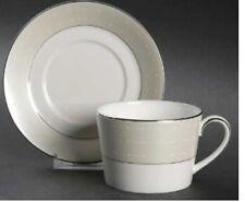 Royal Doulton Monique Lhuillier Étoile Platinum Teacup & Tea Saucer NWT