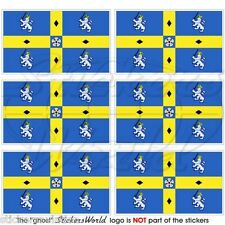 DURHAM County Flag England UK British Mobile Cell Phone Mini Stickers, Decals x6