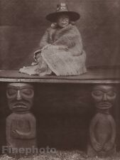 1900/72 Photogravure NATIVE AMERICAN INDIAN Chief's Daughter EDWARD CURTIS 11x14