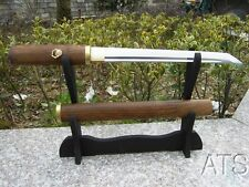 Hand Forged Japanese Rosewood Tanto Sword Sharp Full Tang