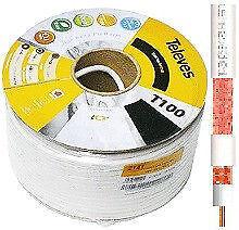 CABLE COAXIAL TELEVES T100 PLUS 75 OHM DE ANTENA TV 100 MTS. TDT TV SAT ICT