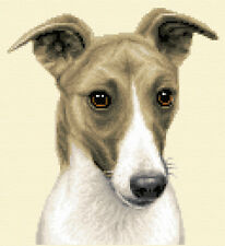 More details for whippet dog, puppy - complete counted cross stitch kit  *jann designs
