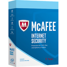McAfee Internet Security 2018  5 Years 1 PCs