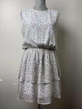 Cynthia Rowley | Georgette Blouson Dress | White Floral | Medium | NWT $139