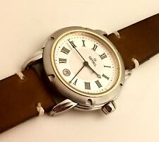 Gevril Swiss Quartz Watch~In Excellent Condition With Hand Made Strap