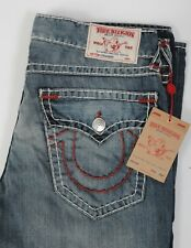 NEW Men's True Religion Jeans Straight Natural RED SUPER T size 40 Flap