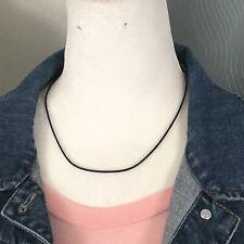Black Cord Necklace Cotton For Pendants
