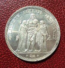France - 3 ème République - Magnifique  monnaie de 5 Francs  1873  A Hercules