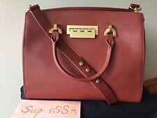 Mother's Day Gift NWT Zac Posen Eartha Leather Barrel Satchel Handbag $595