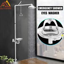 Stainless Steel Emergency Eyewash Shower Station Emergency Shower System Eye