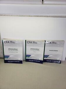 2019 Kaplan Schweser CFA Notes volume 1 to 3 level 1