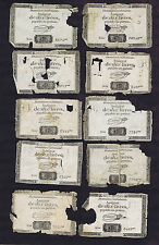 10 FRANCE LOW GRADE 10 LIVRES REVOLUTION ASSIGNATS MAY HAVE BEEN USED IN AMERICA