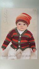 Sublime Knitting Pattern #6016 Little Bertie Cardigan & Hat to Knit in DK Yarn