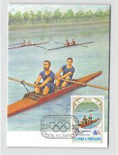 S. TOME MK 1984 OLYMPIA USA LA OLYMPICS RUDERN CARTE MAXIMUM CARD MC CM m271