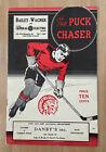 VINTAGE 1938 AHL NHL PITTSBURGH HORNETS @ SPRINGFIELD INDIANS hockey PROGRAM