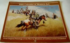 Cowboys Artists of American Western Art Calendar 1989 12 prints Americana