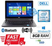 """Dell Latitude E5250 13.3"""" I5-5300U 8GB DDR3 256GB SSD W 10 Pro Laptop ULTRA"""