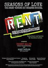 "Kerry Ellis ""RENT"" Rory Taylor / Jonathan Larson 2013 United Kingdom Tour Flyer"