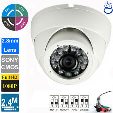 HD TVI 1080P Dome Camera 2.4MP Sony CMOS 2.8mm  Wide Angle Lens 24 IR Outdoor