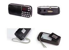 Pro Little Radio FM Mini MP3 Player USB Micro SD kopförer Battery