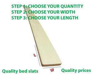 CHEAPEST SINGLE REPLACEMENT SPRUNG BED SLAT 970 X 60 MM BRAND NEW HARDWOOD