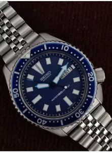 SEIKO DIVER'S 6309-7290 BLUE  AUTOMATIC JUBILÉE BRACELET MEN's WATCH Red:371174