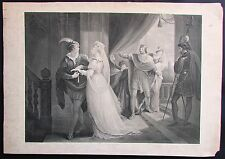 Antique Engraving Illustration for Shakespeare's  Play Cymbeline Boydell Publish