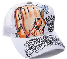LOS ANGELES FRESH BY BOOG [PRAYING HANDS] TATTOO INK CAP SNAPBACK TRUCKER HAT KA