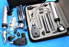 *NEW*ENT (Ear,Nose &Throat) Diagnostic,Otoscope,Ophthalmoscope set W/Zipper Case