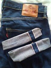 Levis 501 Selvedge W32 L34 (w34xl32) yellow single stitch pocket batwing red tab
