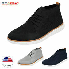 Mens Mid Top Casual Shoes Comfort Fashion Sneakers Knit Walking Shoe Size 6.5-13