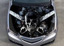 Horror Skull Car Bonnet Wrap Color Vinyl Sticker Decal Fit Any Car