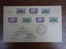 FDC ENVELOPPE CROIX ROUGE COTONOU DAHOMEY 30 AVRIL 1944 AOF Rare