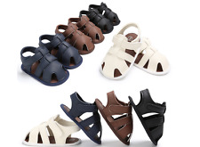 Toddler PreWalker Summer Sandals Newborn Baby Boy Soft Sole Crib Shoes Size 0-18
