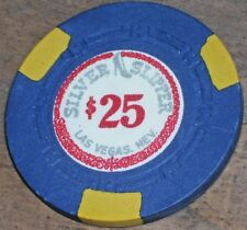 $25 VINTAGE 5TH EDT CHIP FROM THE SILVER SLIPPER CASINO LV R6