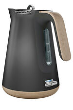 NEW Morphy Richards Scandi Aspects Wood Kettle:Titanium 100006