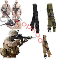 Adjustable 3-point Army Tactical Rifle Sling Hook Strap for Outdoor Hunting