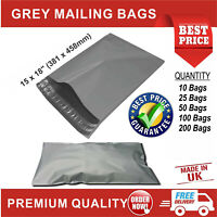 "15"" x 18"" STRONG GREY MAILING POST MAIL POSTAL BAGS POLY POSTAGE SELF SEAL"