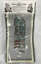Diana Gordon Studio Needlepoint Kit Queen Anne Victorian Home Design VTG  5 x 15