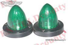 VINTAGE 2 GREEN MARKER LIGHT +12V BULB TRUCK MOTORCYCLE TRACTOR TRAILER SPARES2U