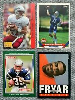 New England Patriots Rookie Card Lot Bledsoe Harry Faulk Wilfork Fryar and More