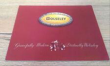 WOLSELEY Brochure Original Vintage 1952 Cars Antique British Automobile