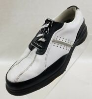 FootJoy Womens Comfort Golf (98666) Soft Spikes White Black Lace Up Shoes Sz 6M